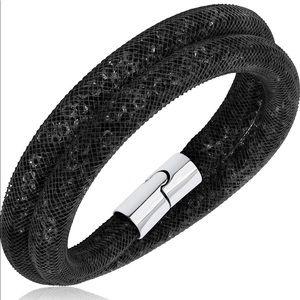 Swarovski Stardust Double Bracelet - Black